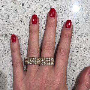 2 Finger Gold Statement Ring